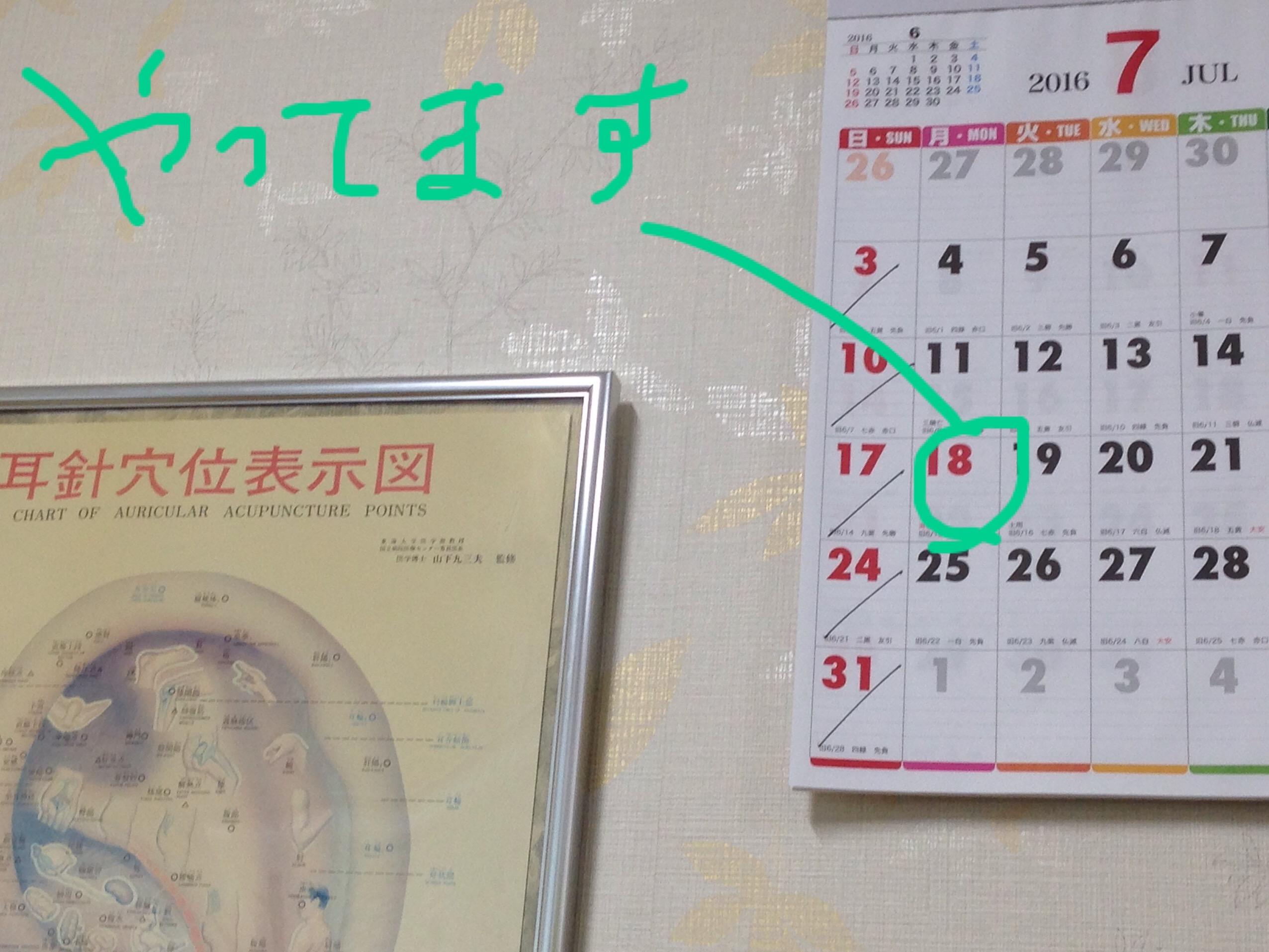 天王寺、藤井寺のダイエット専門鍼灸院 7月18日(海の日)開院しています。