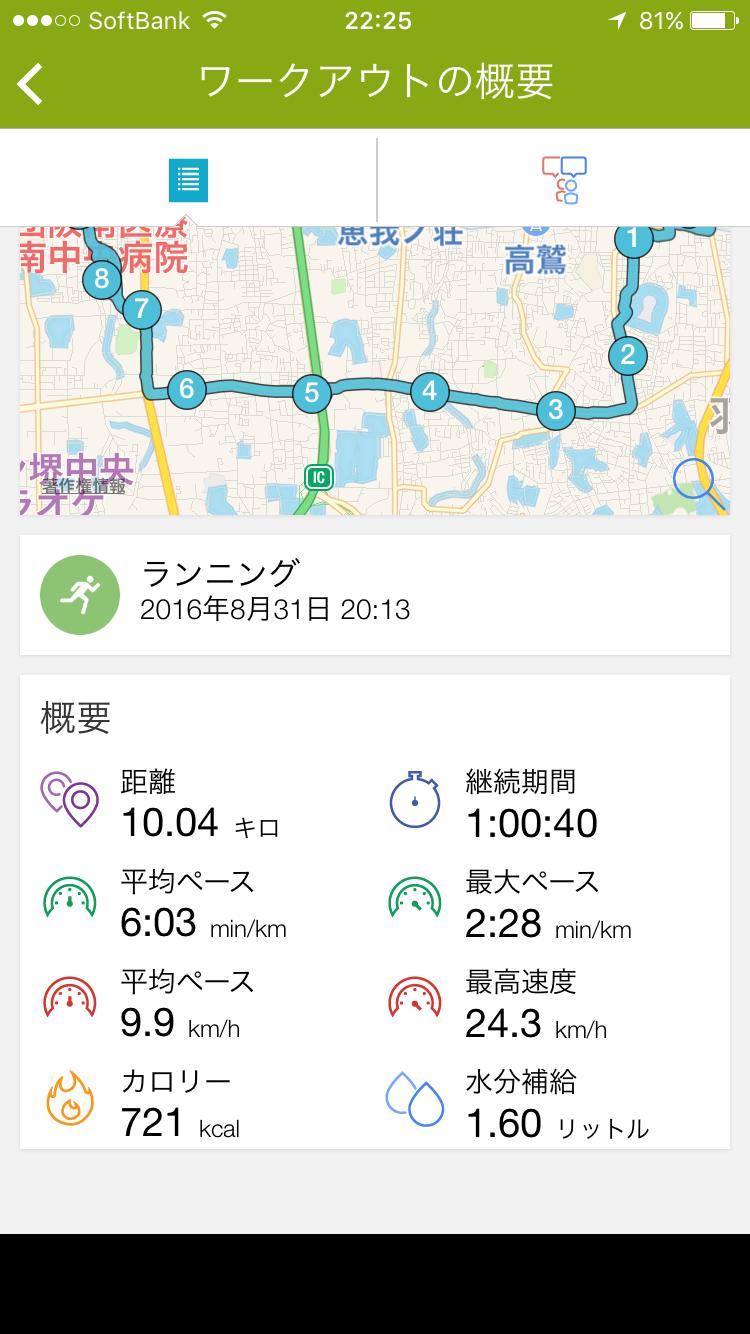 今日は10km帰宅ランニング。9月も何とか100km走りました。