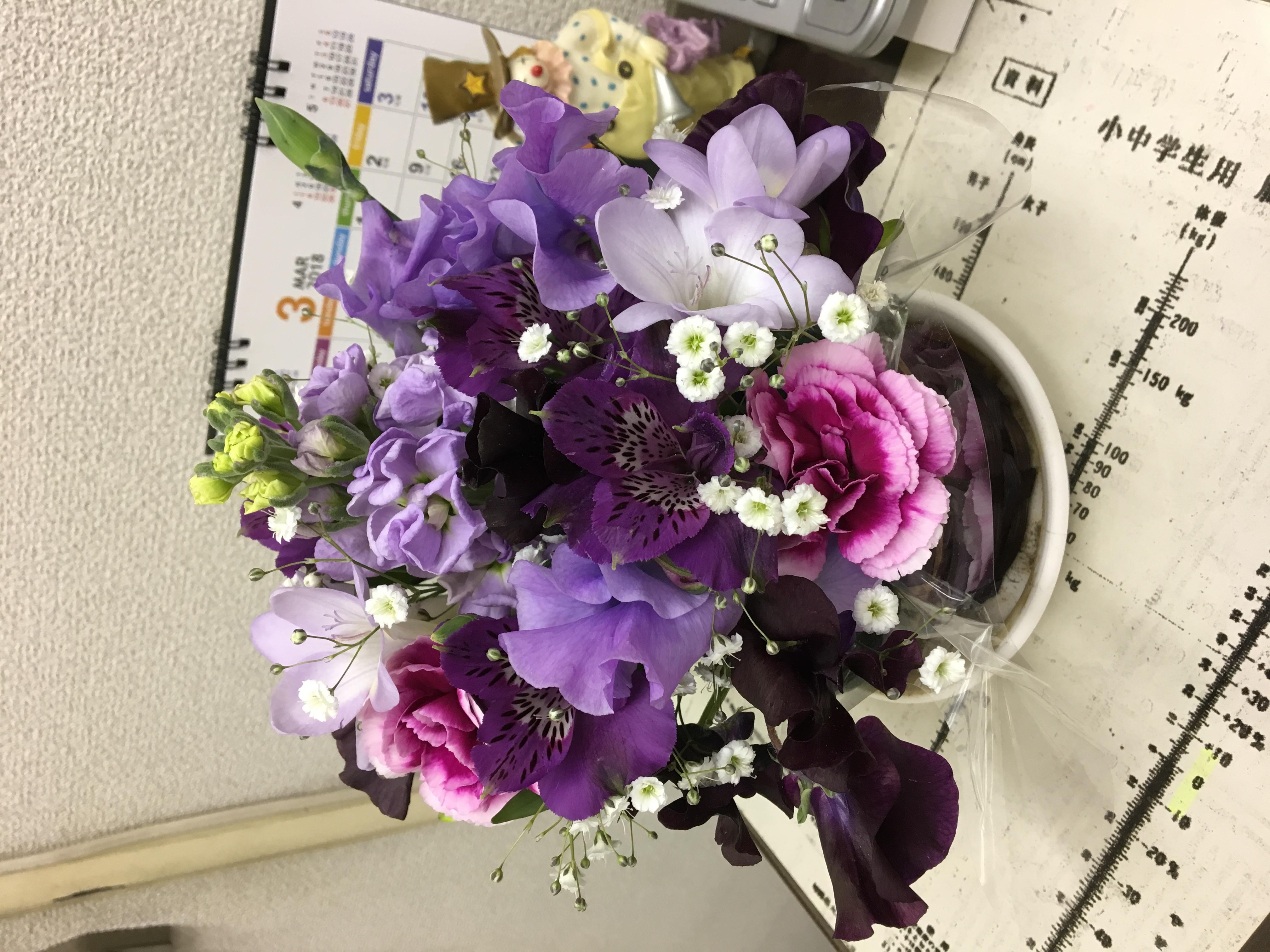 [ブログ]お花頂きました(о´∀`о)